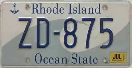 2007 Rhode Island (Single) license plate for sale
