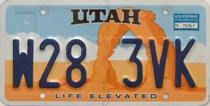 Utah  (Single) license plate for sale