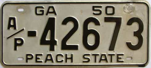 YOM 1950 Georgia (Truck) license plate for sale