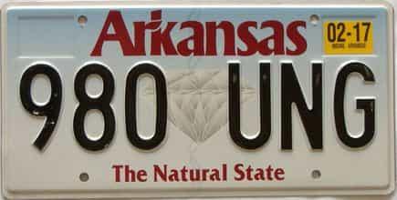 2017 Arkansas license plate for sale