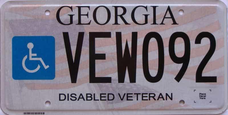Georgia license plate for sale