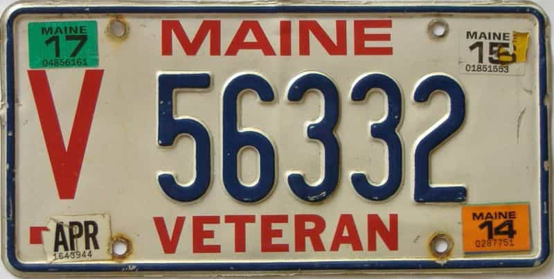 2015 Maine  (Single) license plate for sale