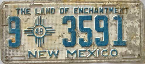 1949 New Mexico license plate for sale