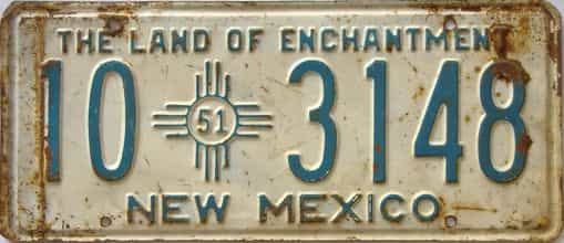 1951 New Mexico license plate for sale