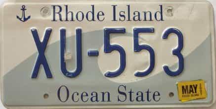 2007 Rhode Island (Single) license plate for sale