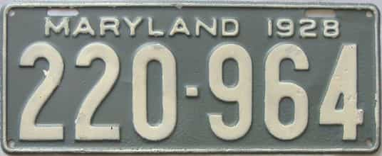 1928 Maryland (Repaint - As Found) license plate for sale