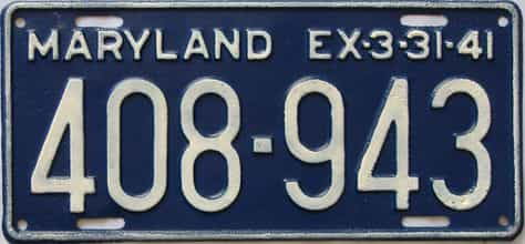 1941 Maryland (Repainted) license plate for sale