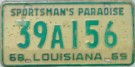 1969 Louisiana license plate for sale