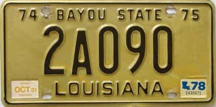 1978 Louisiana license plate for sale
