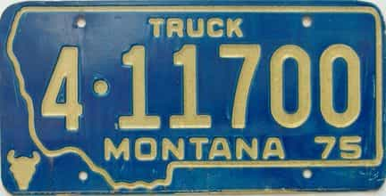 1975 Montana (Truck) license plate for sale