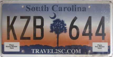 South Carolina license plate for sale