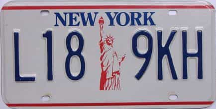 1986 New York (Single) license plate for sale