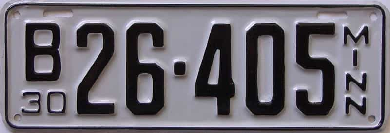 1930 Minnesota  (Repaint - As Found) license plate for sale