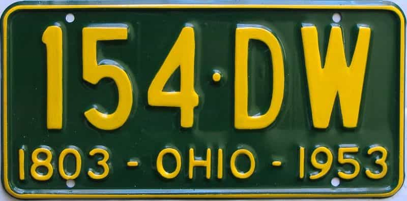 1953 Ohio  (Very Nice Repaint) license plate for sale