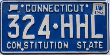 1994 Connecticut  (Single) license plate for sale
