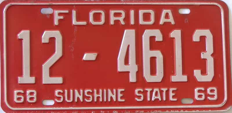 1968 Florida license plate for sale