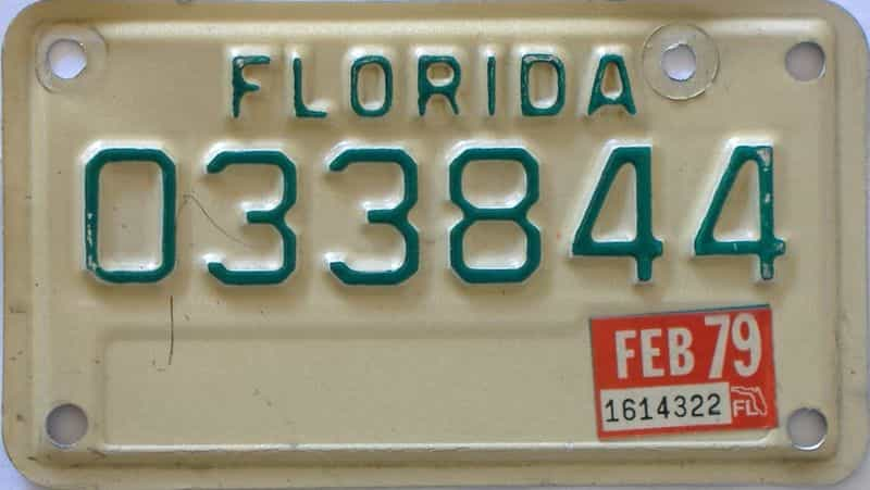 1979 Florida  (Motorcycle) license plate for sale