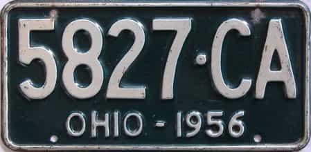 1956 Ohio (Single) license plate for sale