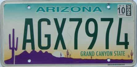 2010 Arizona license plate for sale