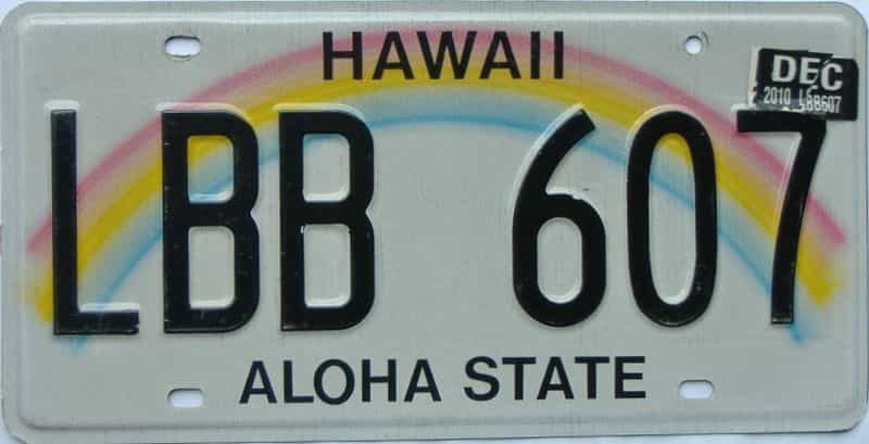 2010 Hawaii  (Single) license plate for sale