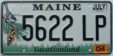 2004 Maine  (Single) license plate for sale