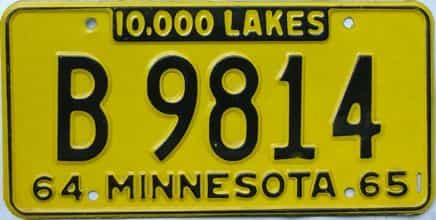 1964 Minnesota (Farm Truck) license plate for sale