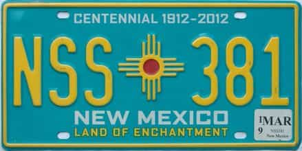 2019 New Mexico license plate for sale