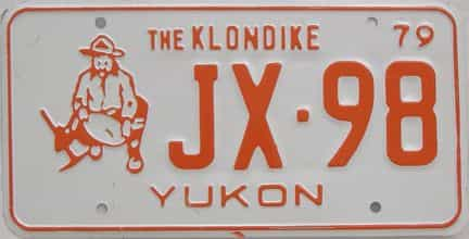 1979 Yukon (Single) license plate for sale