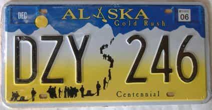 2006 Alaska (Single) license plate for sale