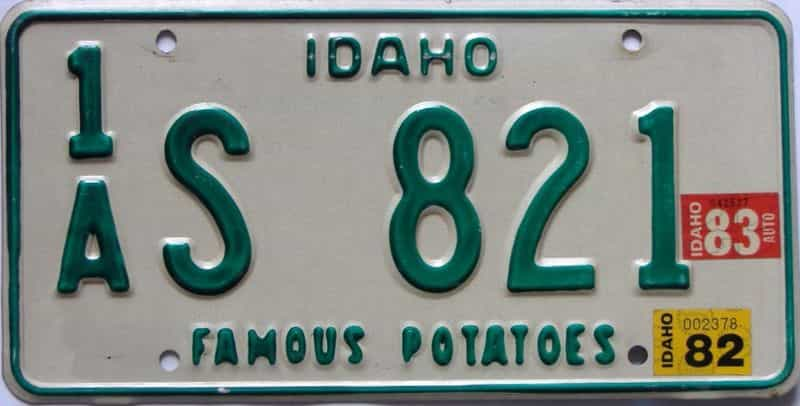 1983 Idaho (Single) license plate for sale