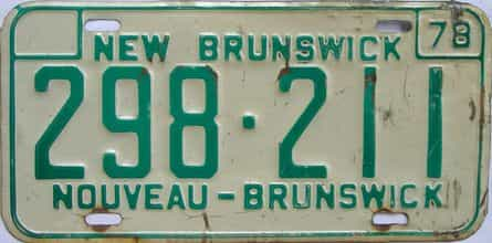 1978 CANADA (New Brunswick)