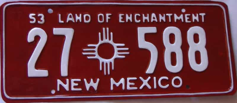 1953 New Mexico  (Very Nice Repaint) license plate for sale