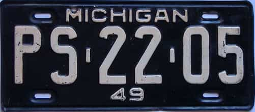 1949 Michigan license plate for sale