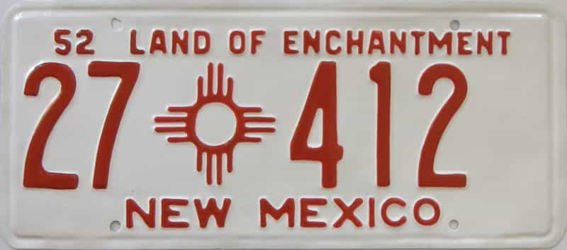 1952 New Mexico  (Very Nice Repaint) license plate for sale