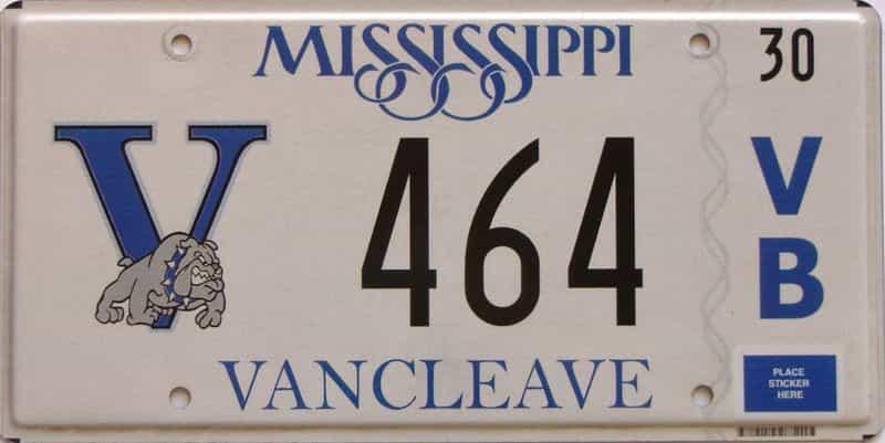 Mississippi license plate for sale
