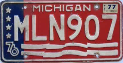 1977 Michigan (Single) license plate for sale