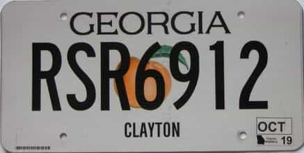 2019 Georgia Counties (Clayton) license plate for sale