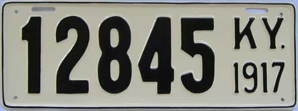 RESTORED 1917 Kentucky (Single) license plate for sale