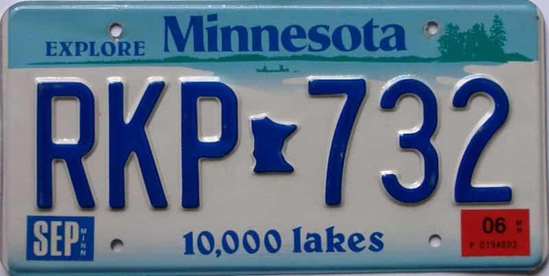 2006 Minnesota  (Single) license plate for sale