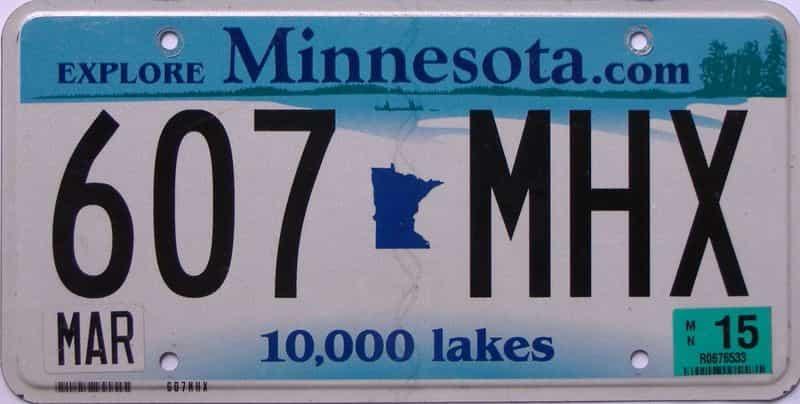 2015 Minnesota  (Single) license plate for sale