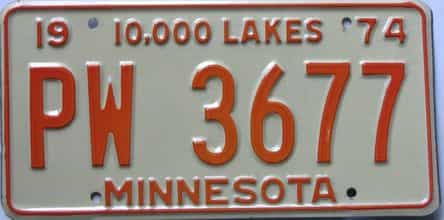 1974 Minnesota (Single) license plate for sale