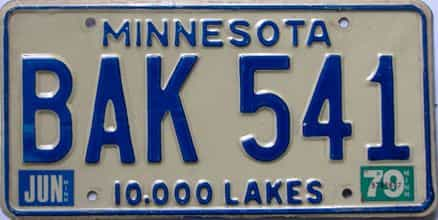 1979 Minnesota (Single) license plate for sale