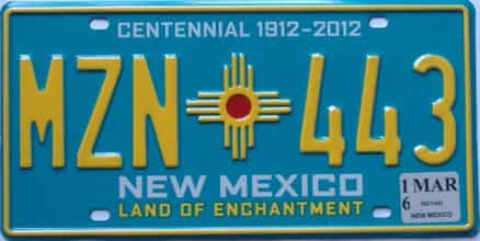 2016 New Mexico license plate for sale