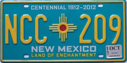 2017 New Mexico license plate for sale