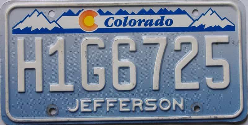Colorado  (Single) license plate for sale