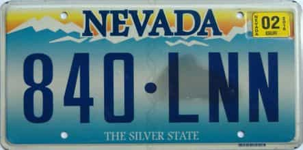 2016 Nevada license plate for sale