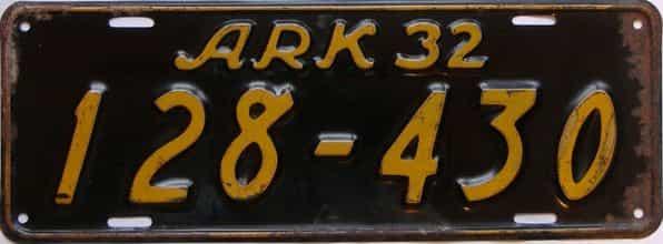 1932 Arkansas license plate for sale