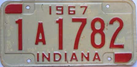 1967 Indiana license plate for sale