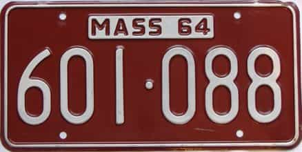 1964 Massachusetts  (Single) license plate for sale