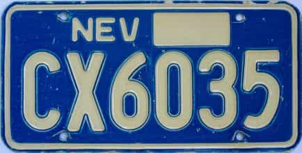 1970 Nevada (Single) license plate for sale